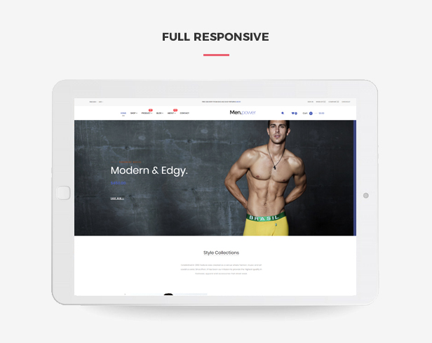 Ap Men Power Hot Underwear Fashion Prestashop Theme - Fully responsive