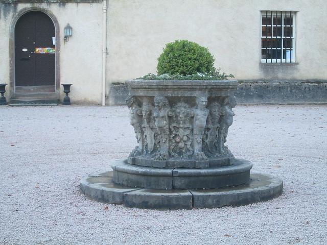 Fyvie Castle stone urn