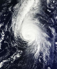 Hurricane Gonzalo's northern quadrant over Bermuda. Original from NASA. Digitally enhanced by rawpixel.