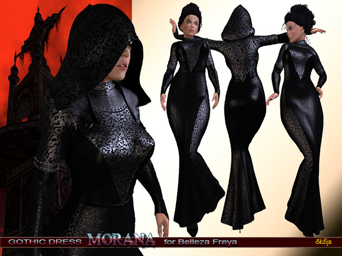 Morana Gothic Dress for Belleza Freya