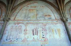saint-méen-le-grand, fresques de l'église abbatiale