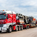 Ant Bennett from Chris Bennett Heavy Haulage in His STGO3 Merc 8x4  4163 & Nooteboom Modular Trailer Loaded with a Pile Driver headed for Kings Cross Area of London....