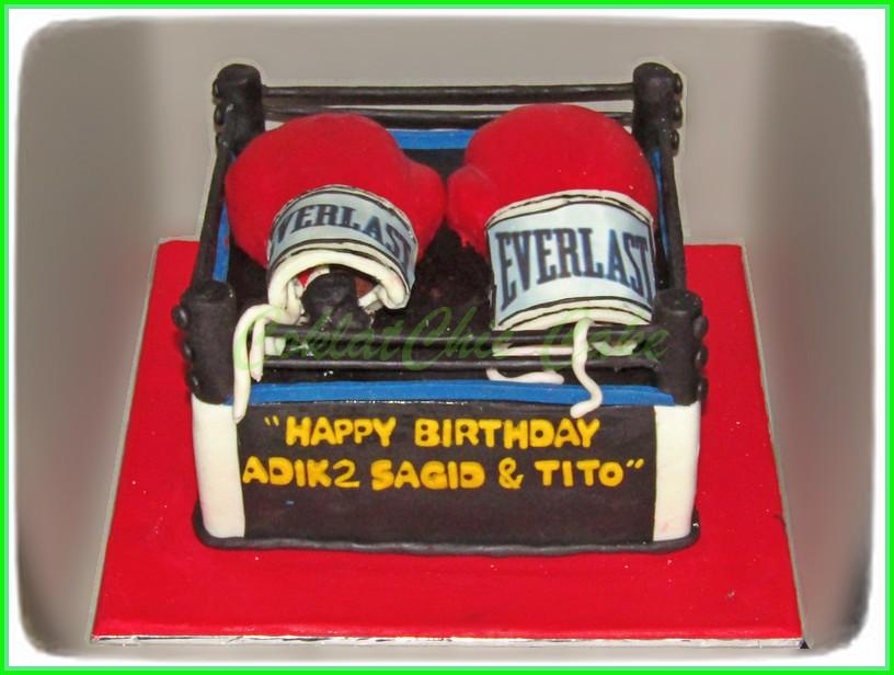 Cake Sarung Tinju SAGID & TITO 20 cm
