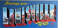 Greetings Lewisville Texas Painted Brick Sign Prohibition Chicken Restaurant CHIO19