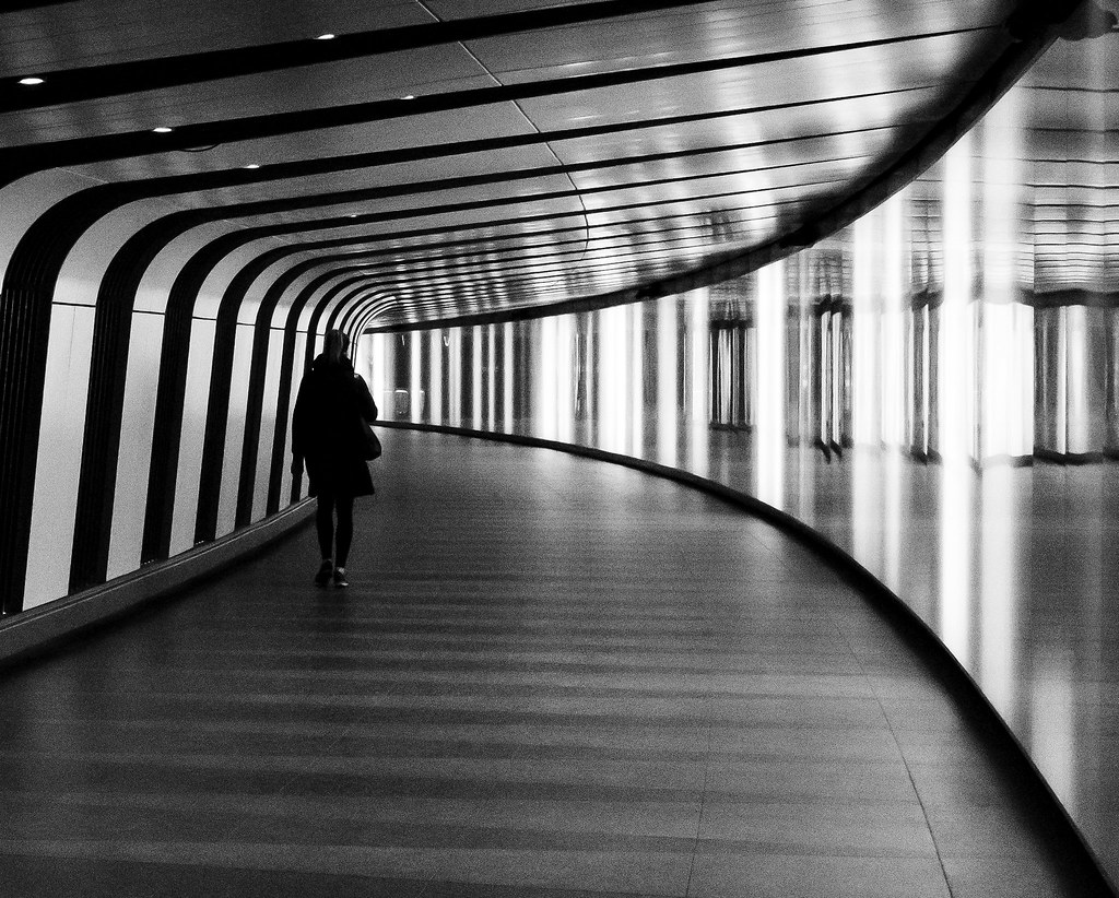 tube in b&w
