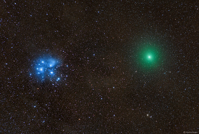 Comet 46P/Wirtanen close to the Pleiades