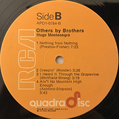 HUGO MONTENEGRO:OTHERS BY BROTHERS(LABEL SIDE-B)