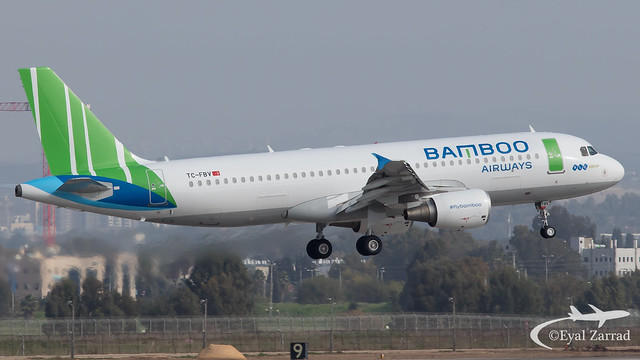 ** RARE ** TLV - Bamboo Airways Airbus A320 TC-FBV