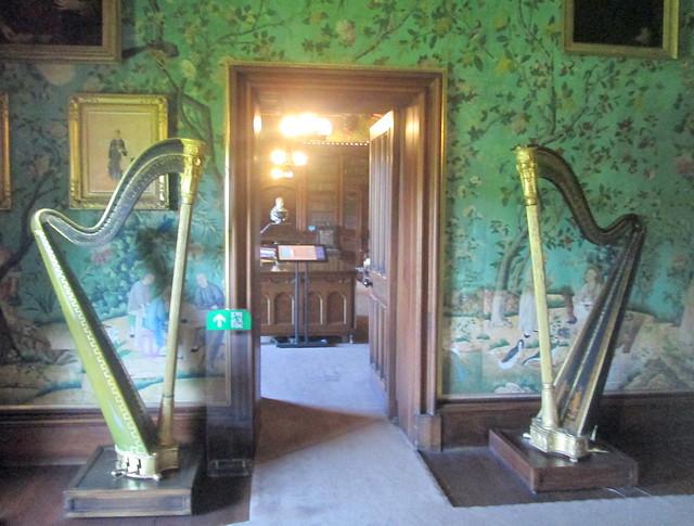 Abbotsford Drawing Room, Sir Walter Scott Harps
