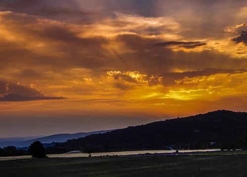 Sunset over Pont de Barret in France