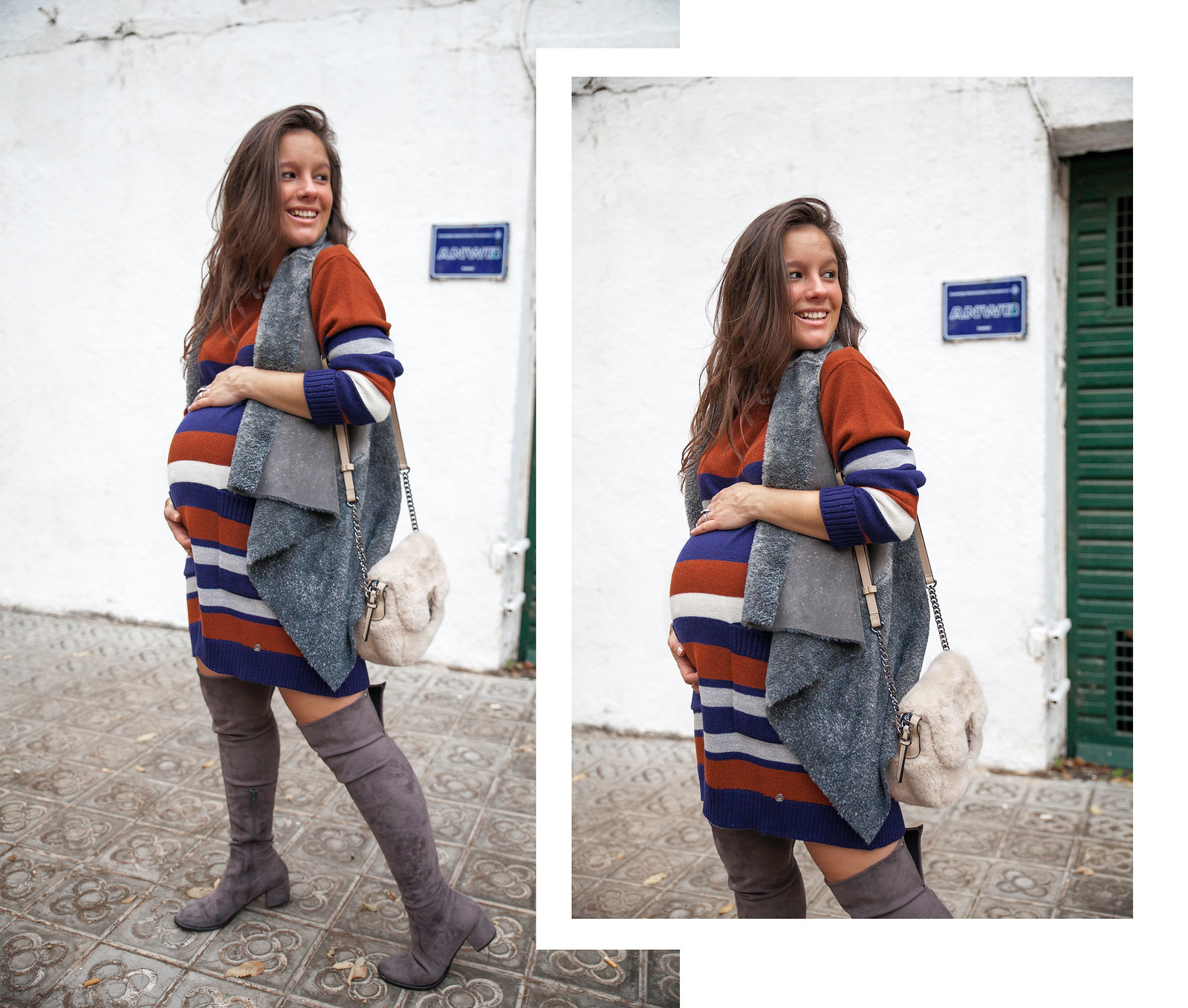 07_Vestido_rayas_punto_chaleco_look_embarazo_tercer_trimestre_theguestgirl_fashion_influencer_fashion_portugal_brand_ruga