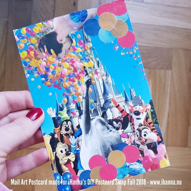DIY Postcard by Jamie sent to me in iHanna's DIY Postcard Swap Fall 2018