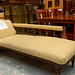 Reproduction chaise solid wood gold fabric E225