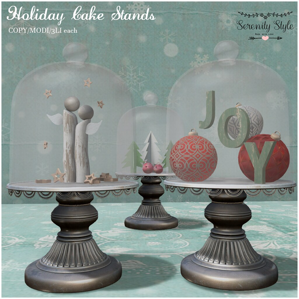 Serenity Style- Holiday Cake Stands