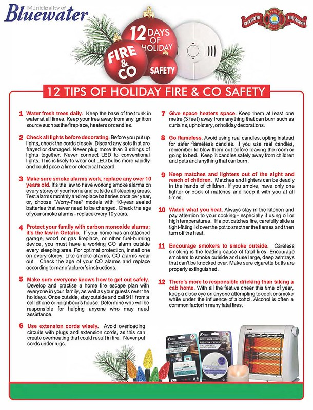 12 Days of Holiday Fire  CO Safety - 12 Holiday Safety Tips