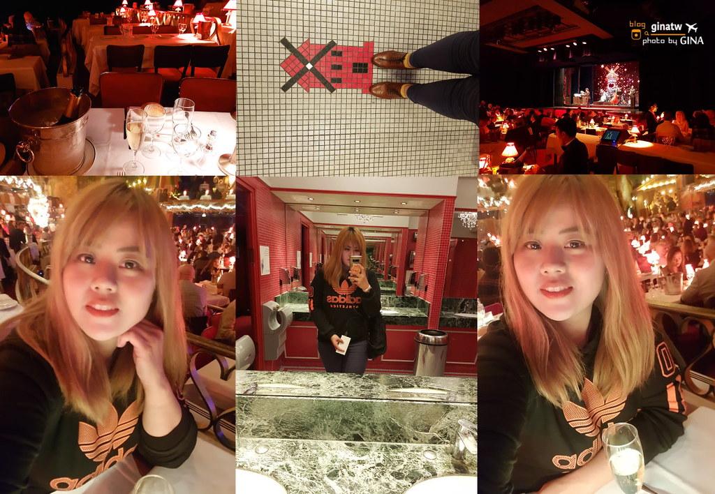 法國自由行》紅磨坊秀(Moulin Rouge)+香冰晚餐表演 康康舞/脫衣舞 + City Tour巴黎城市遊觀光巴士1.5小時 @Gina Lin