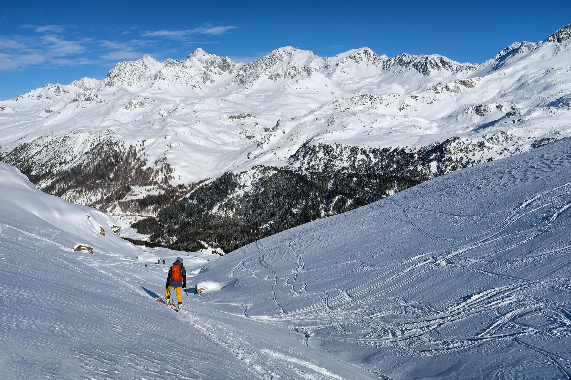 Scialpinismo al Piz Scalotta: discesa su Stalveder