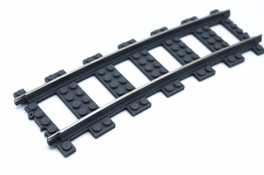 3D Printed 9V Train Track available now from OKBrickWorks - LEGO