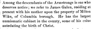 James Galen in History of Lancaster County
