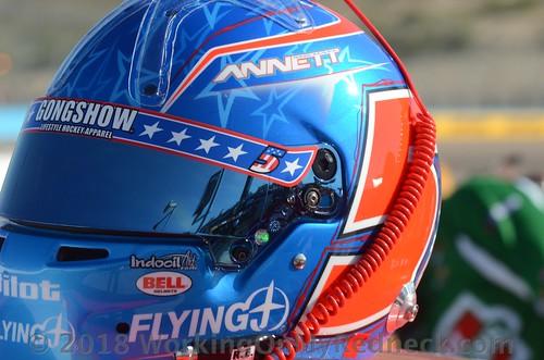 Michael Annett's helmet