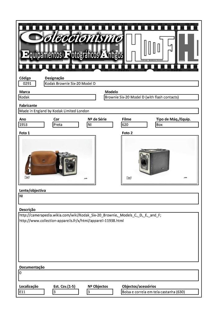 Inventariação da colecção_0291 Kodak Brownie Six-20 Model D