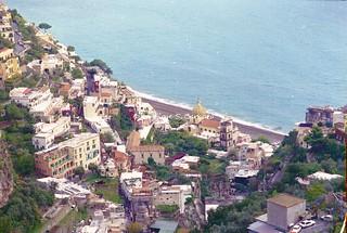 Agerola (NA) - Positano (SA), 1999, Sul Sentiero degli Dei. Vista su Positano.