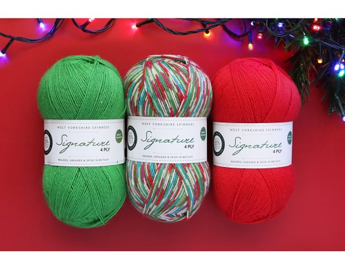 WYS Signature 4 Ply Limited Edition Fairy Lights - shown with Chocolate Lime and Cayenne Pepper