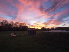 Sunset sky skate park
