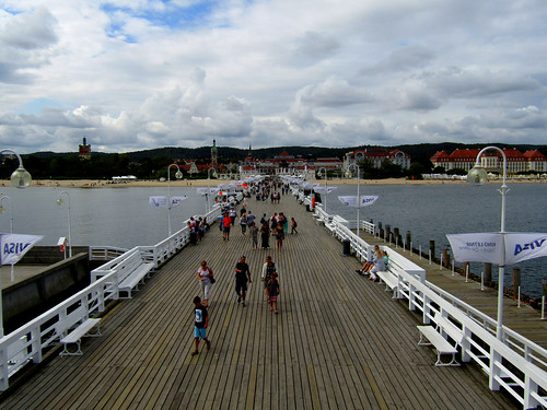 view of Sopot's Pier from viewing deck