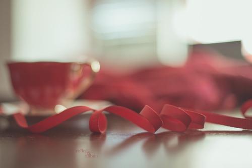 Coffee & ribbon