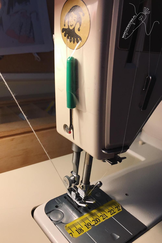 marchewkowa, blog, szycie, sewing, rękodzieło, handmade, przecinak, thread cutter, prowizorka, prujka krawiecka, maszyna do szycia, prawdziwy Łucznik 884, vintage sewing machine