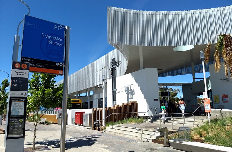 Main entrance to Frankston station