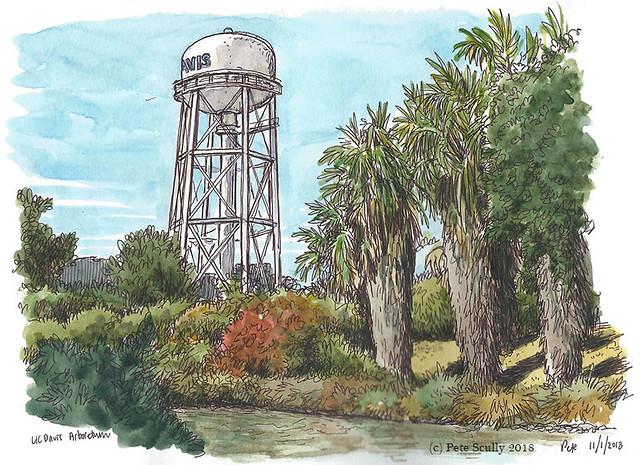 UC Davis water tower