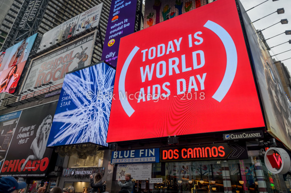 ACT UP NY street actions on World AIDS Day