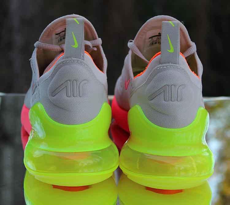 cheaper 33ab6 a7238 Nike Air Max 270 Neon Women's Running Shoes 719916-013 Siz ...