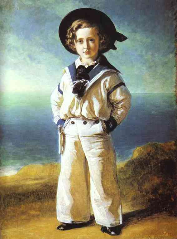 Portrait of Albert Edward, Prince of Wales, oil on canvas painting by Franz Xaver Winterhalter, 1846. Commissioned by Queen Victoria. From the Royal Collection (RCIN 404873).