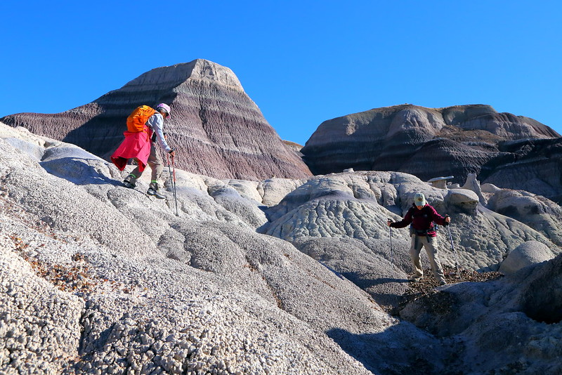 IMG_7108 Hikers in Badlands of Blue Forest