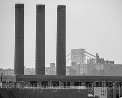 Department of Sanitation Chimneys, Inwood, New York City