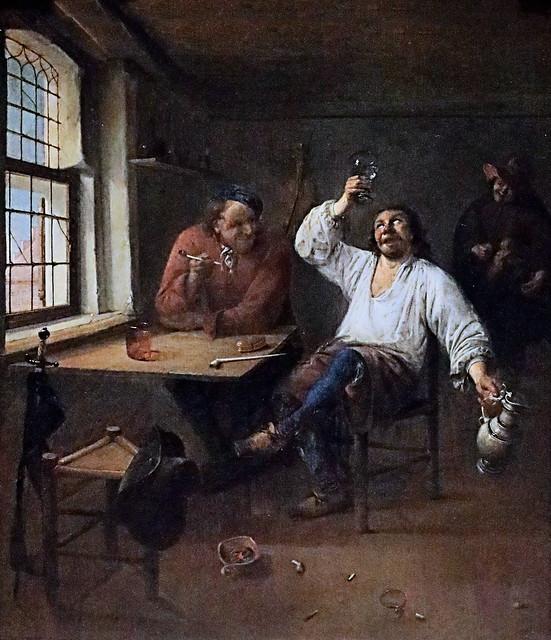 Photo:IMG_1032 Abraham Diepraam 1622-1670 Rotterdam Die Zecher. The drinkers. Les buveurs Schwerin.Staatliches Museum By jean louis mazieres