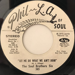 THE SOUL BROTHER SIX:LOST THE WILL TO LIVE(LABEL SIDE-B)