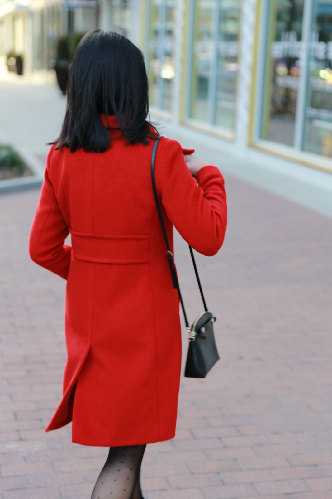 Red Statement Coat + Bow Details