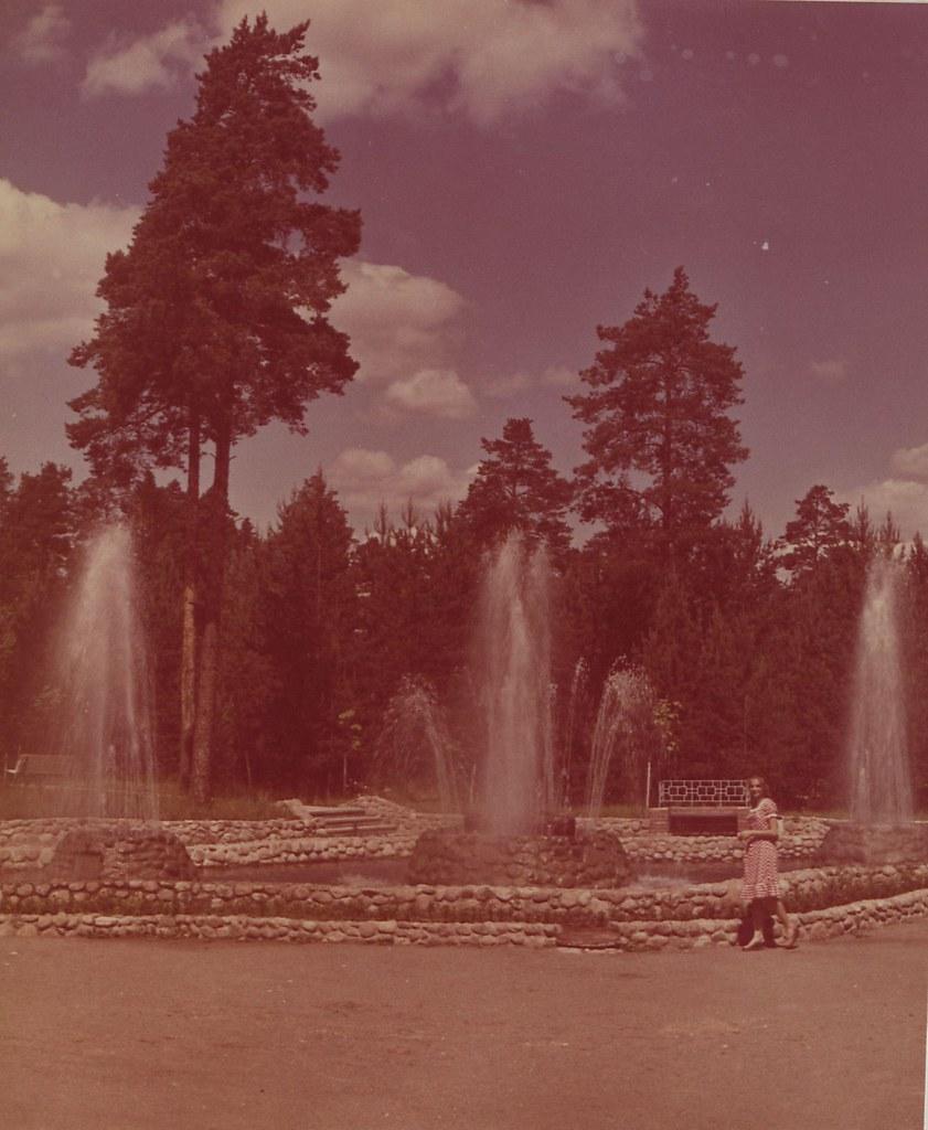 Ленинградская область. Пансионат отдыха «Зеленый бор». Цветные фонтаны