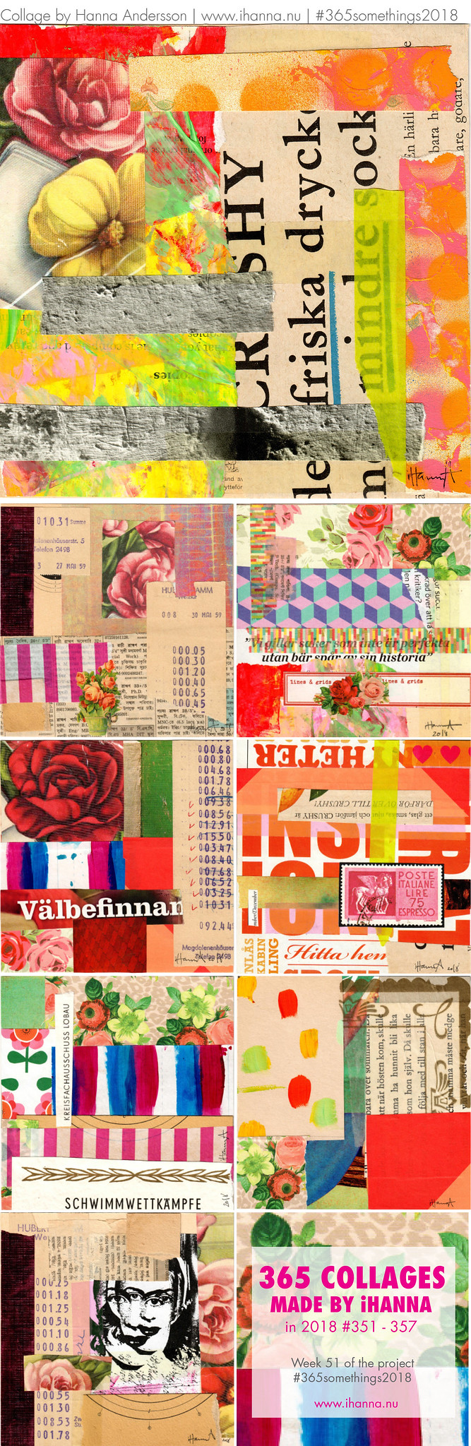 iHanna's 365 Collages 2018 Week 51 a.k.a. Hanna Andersson #365somethings2018 #art