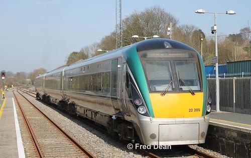 Irish Rail ICR Set 5 in Enniscorthy.