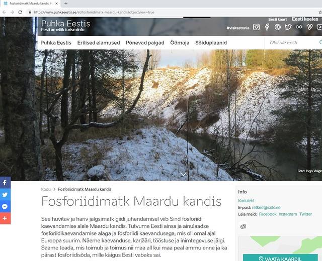 Puhka Eestis / Phosphate rock mining area in Estonia