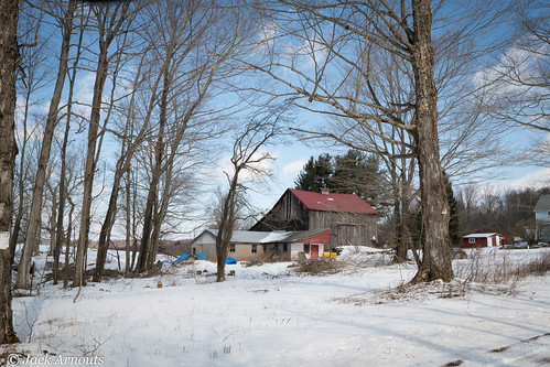architecture trees usa pa landscape vacations travel old scenic pennsylvania sky farm vacation historic barn wayne winter snow cold