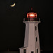 Peggy's Lighthouse and Moon by Darryl Robertson