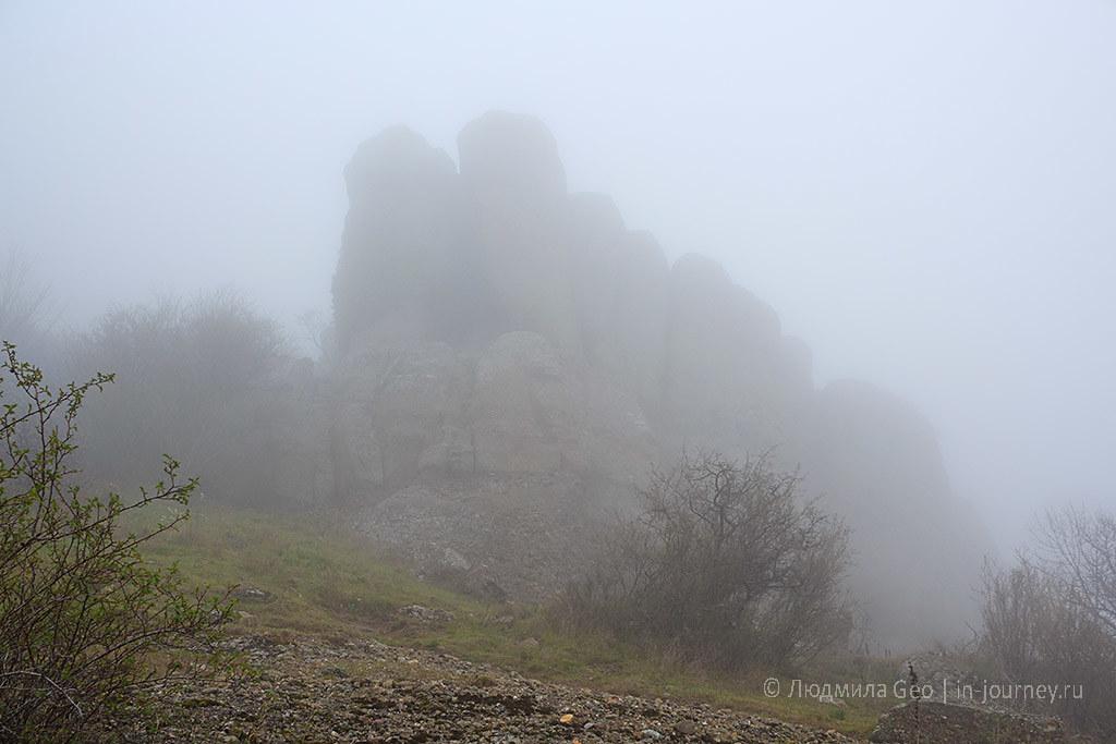 Долина Привидений в тумане