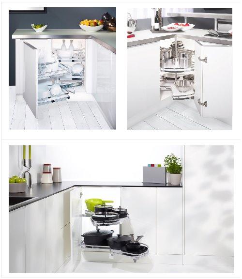Cách tận dụng các không gian góc bếp gọn gàng