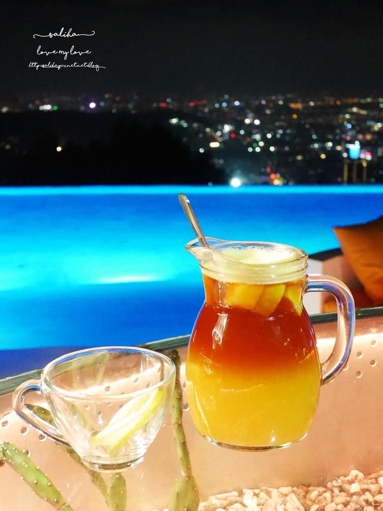 台北陽明山不限時夜景景觀咖啡廳餐廳推薦THETOP屋頂上超浪漫看夜景好去處下午茶 (1)